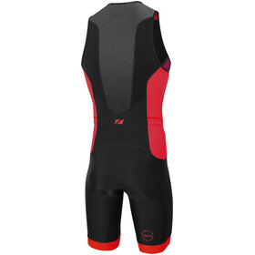 Zone3 Aquaflo Plus Trisuit Heren, black/grey/red